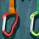 Climbing gear illustration